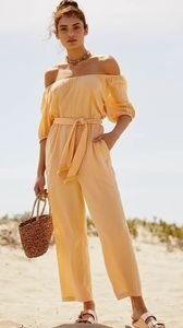 Free People Nalani Off-The-Shoulder Jumpsuit - XS